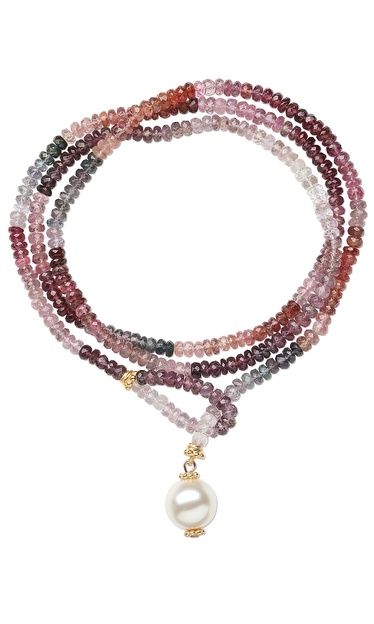 jewelry design lariat style necklace with multi colored