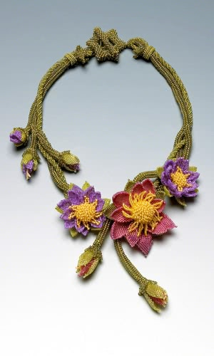 jewelry design singlestrand necklace with seed beads