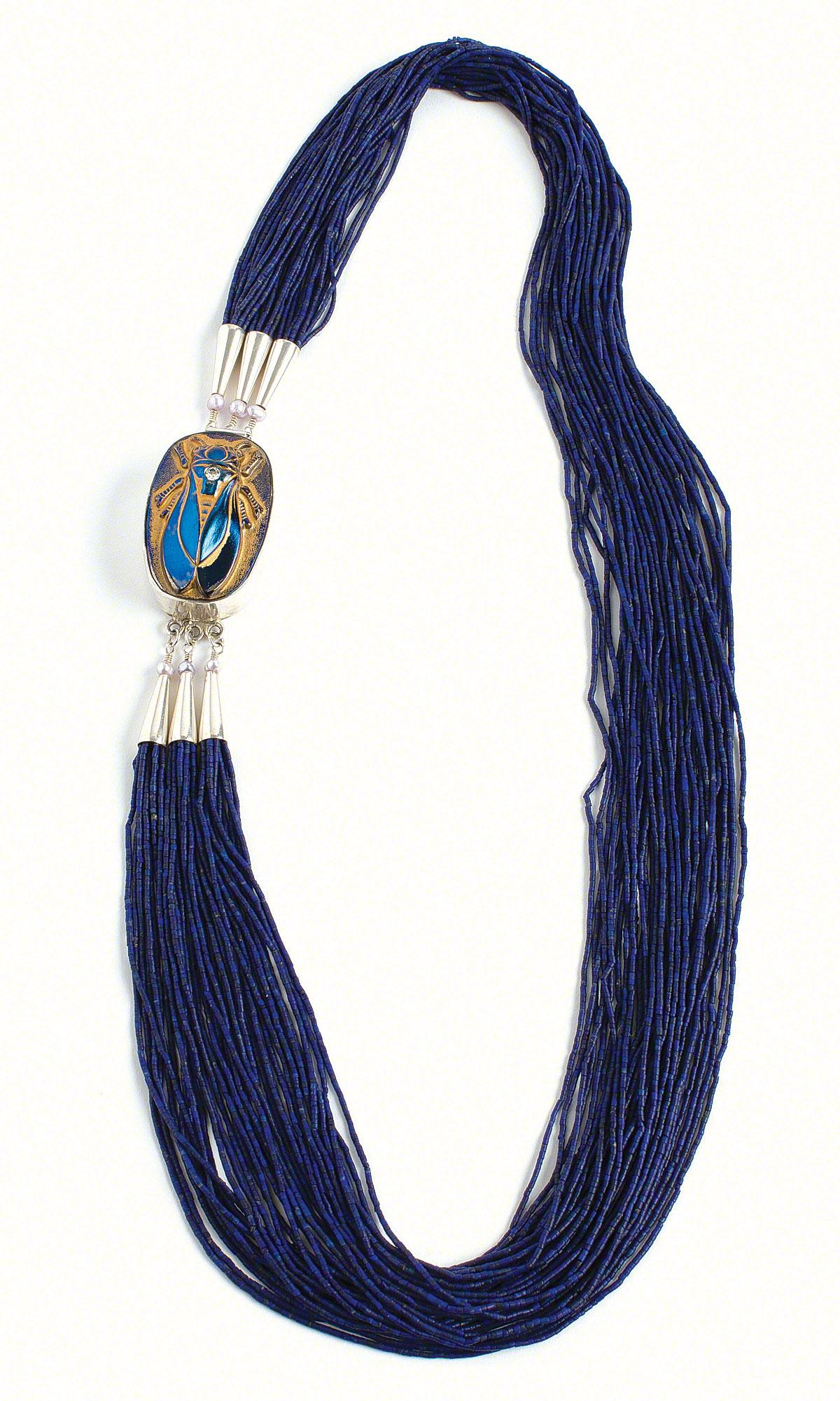 Jewelry Design - Multi-Strand Necklace with Lapis Lazuli Gemstone ...