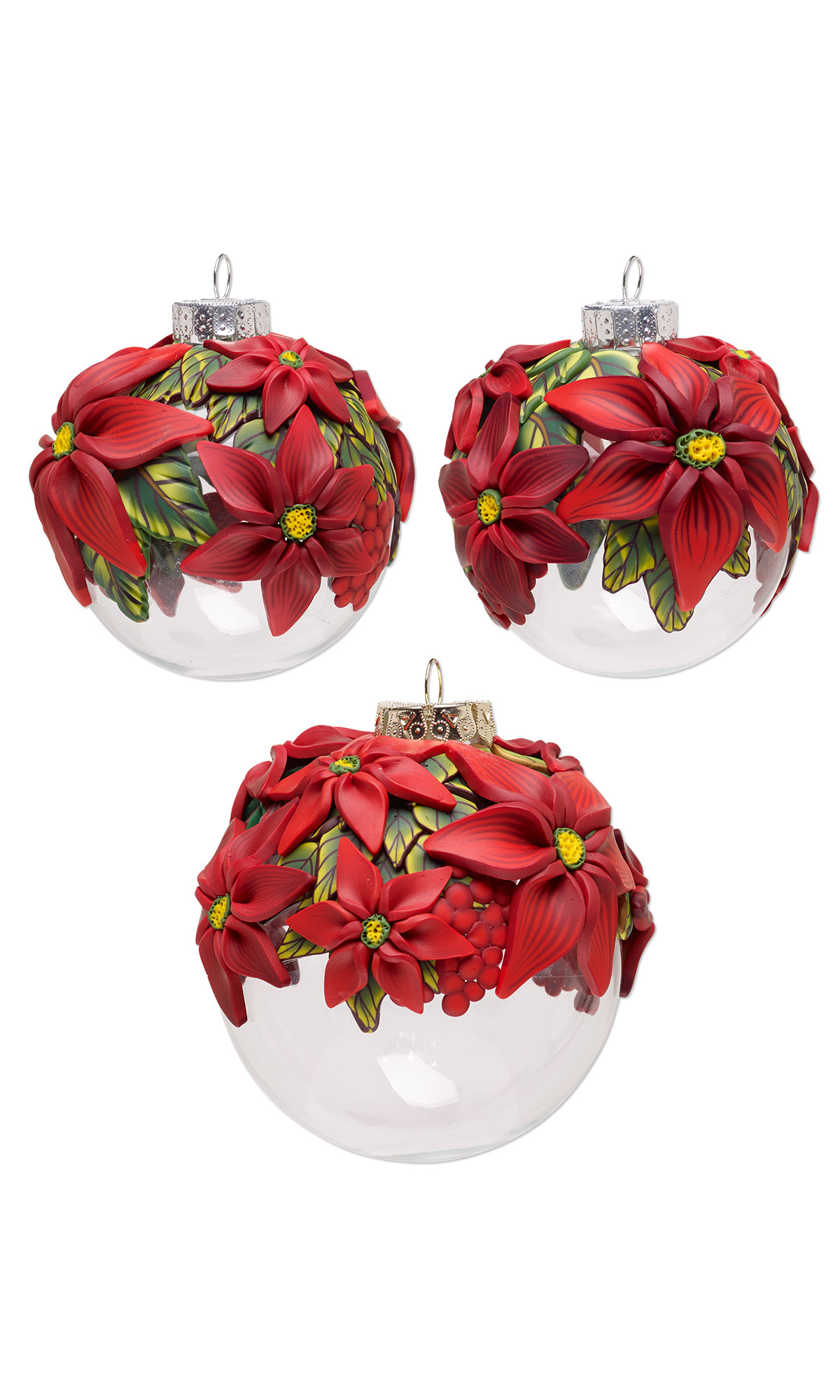 Jewelry Design Three Piece Ornament Set With Premo