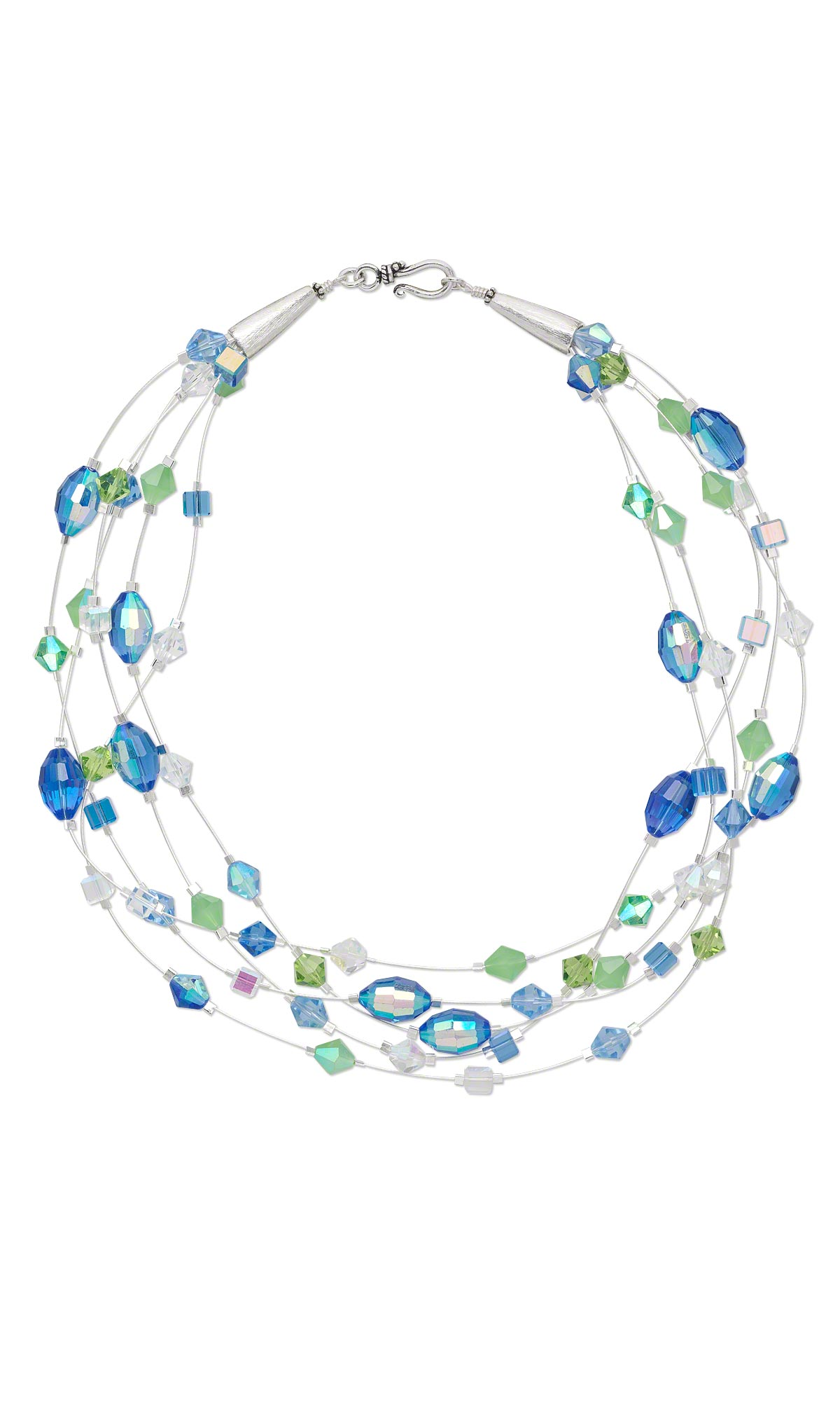 Jewelry Design - Multi-Strand Necklace with Celestial Crystal® Beads ...