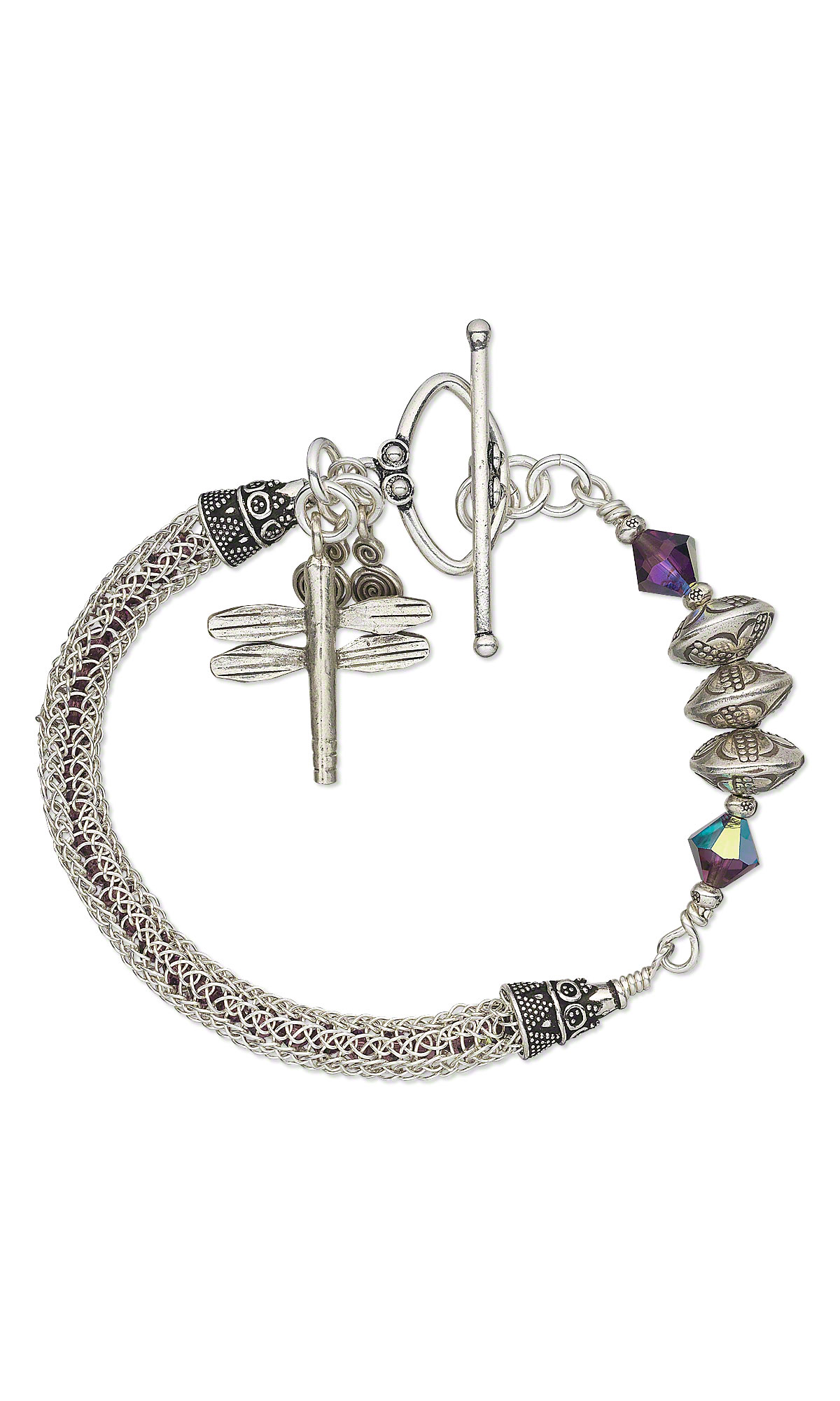 Jewelry Design - Bracelet with Hill Tribes Fine Silver Beads ...