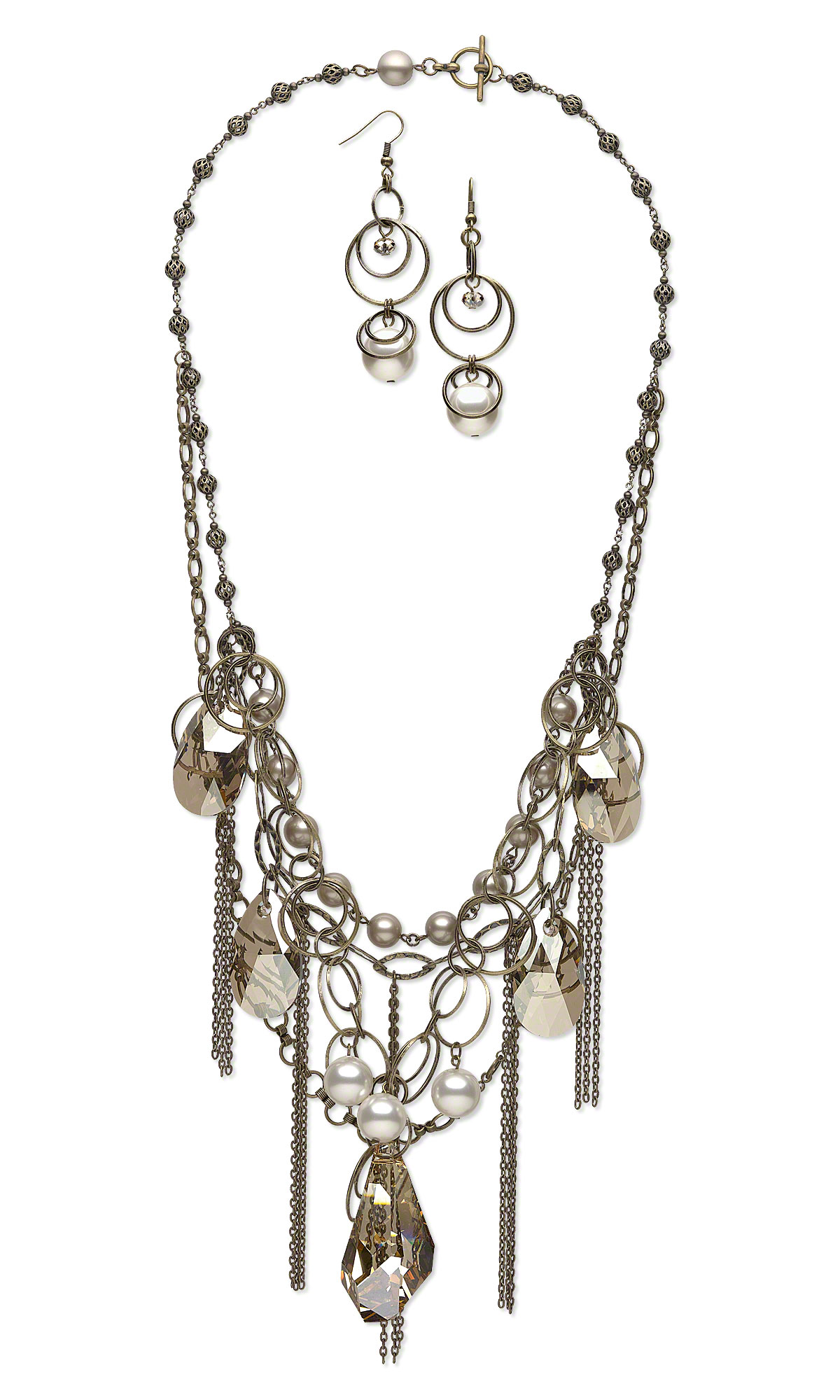 Jewelry Design Multi Strand Messy Chain Necklace With