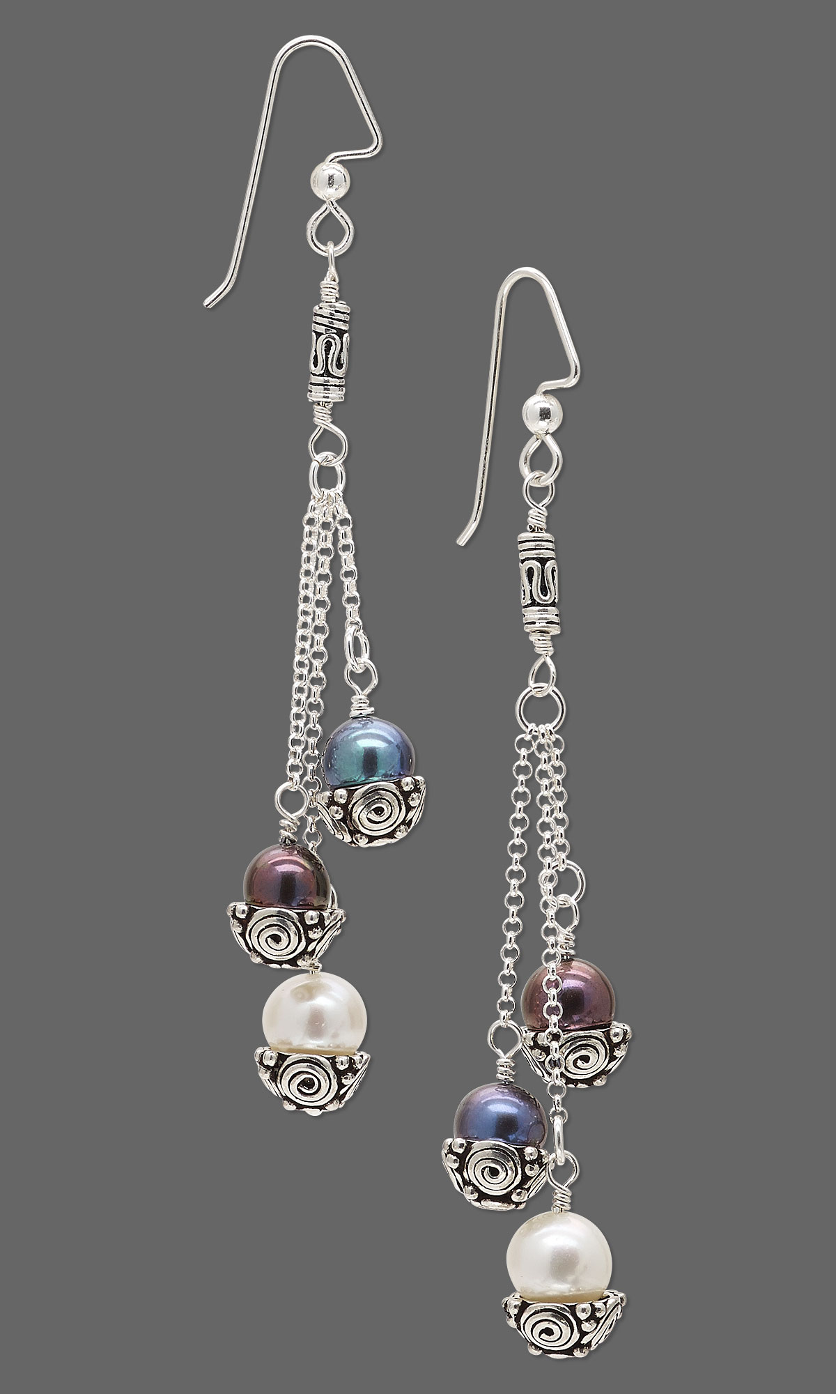 jewelry designs of silver design caps with and sterling beads chain bead antiqued pearls freshwater resources gallery cultured earrings