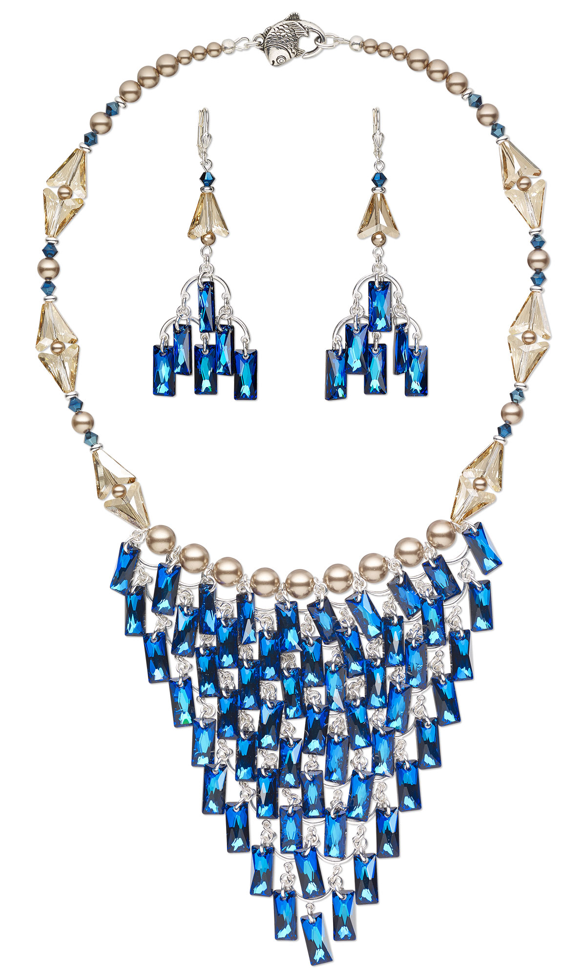 Jewelry Design Bib Style Necklace And Earrings With