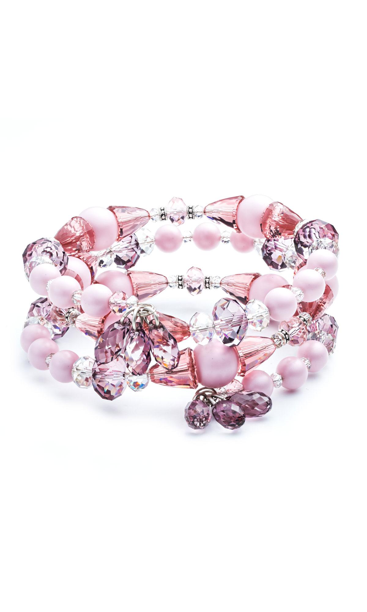 Jewelry Design - Memory Wire Bracelet with Swarovski Crystal - Fire ...