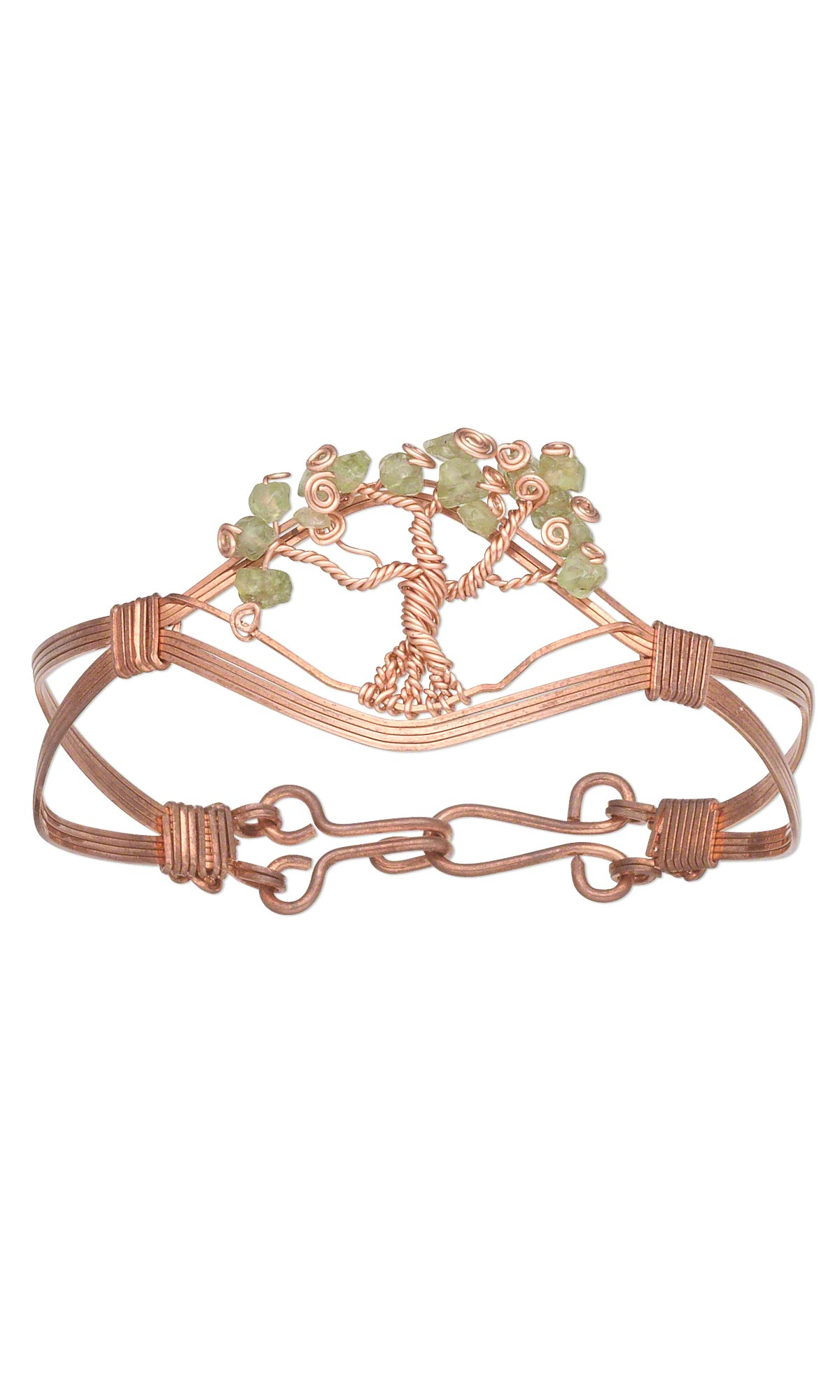 Jewelry Design - Double-Strand Bracelet with Peridot Gemstone Chips ...