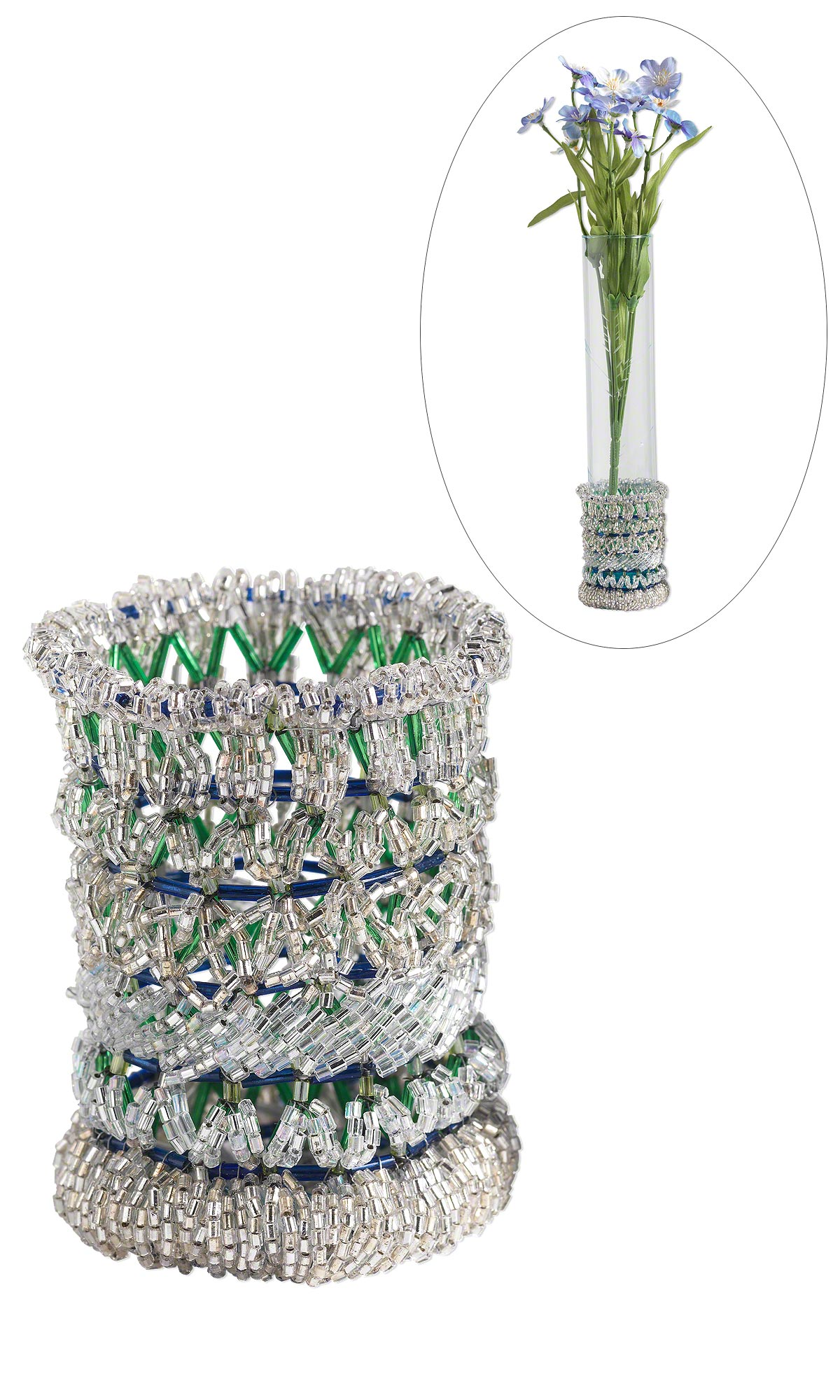 Jewelry design seed beaded flower vase fire mountain gems and seed beaded flower vase reviewsmspy