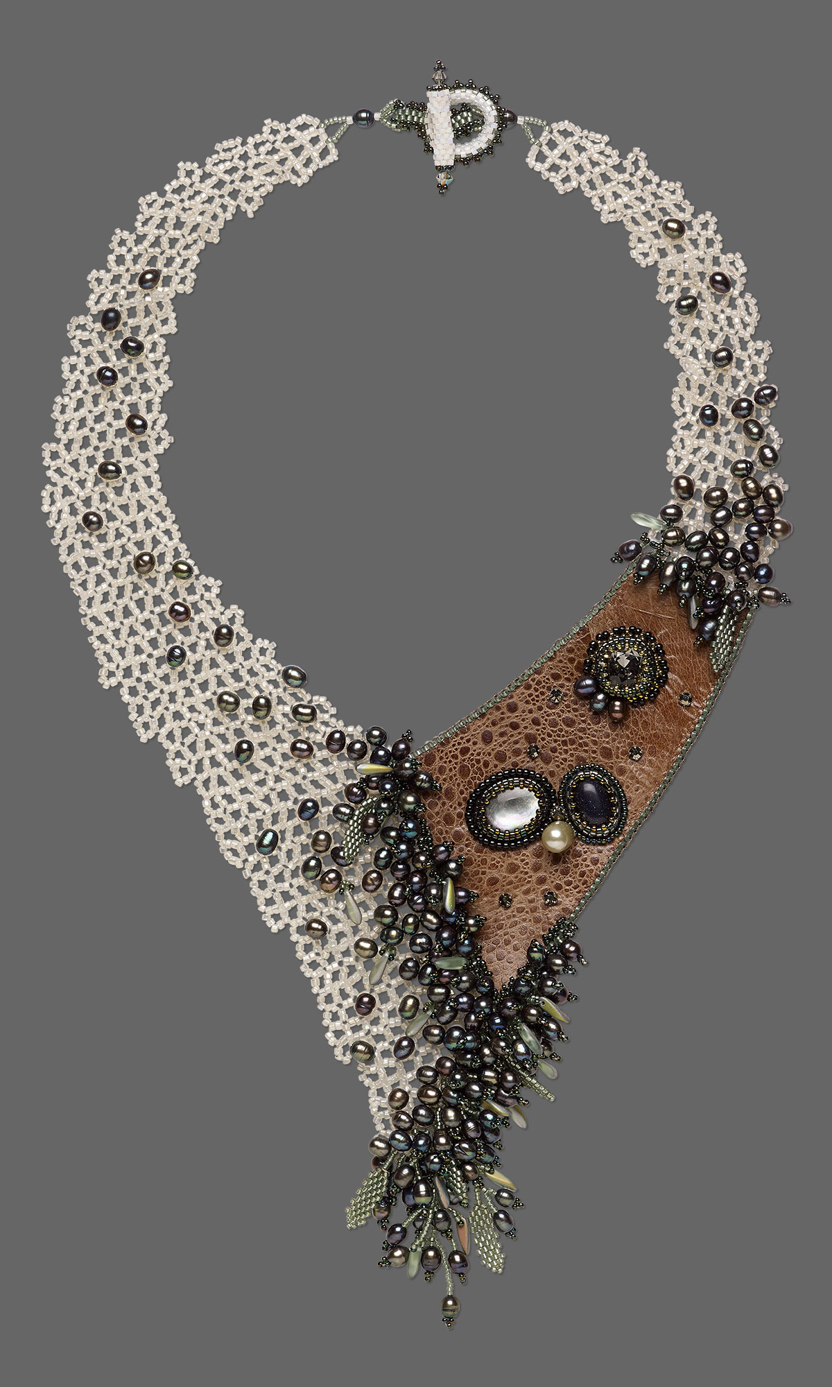 Jewelry Design Bib Style Necklace With Seed Beads