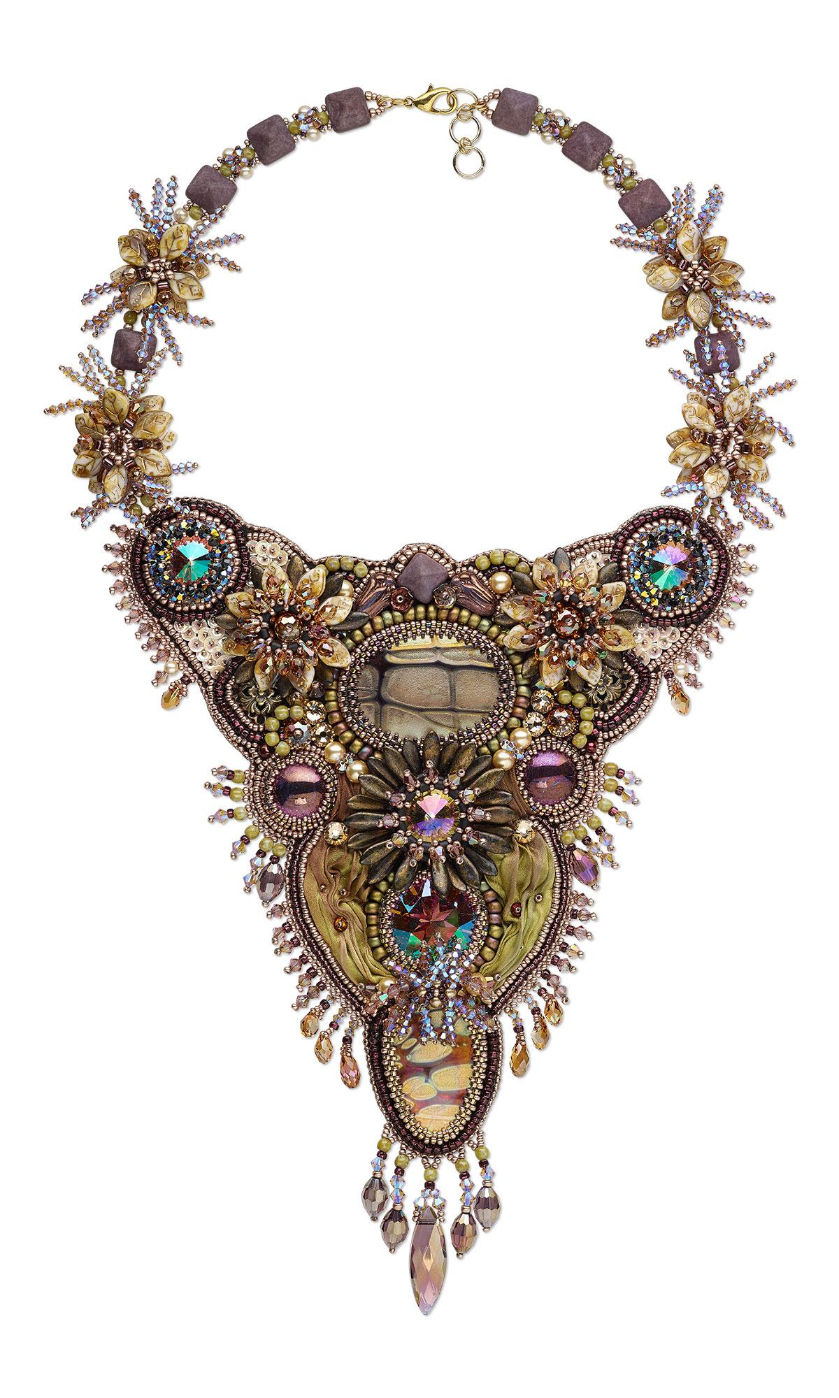 Jewelry Design Bib Style Necklace With Swarovski