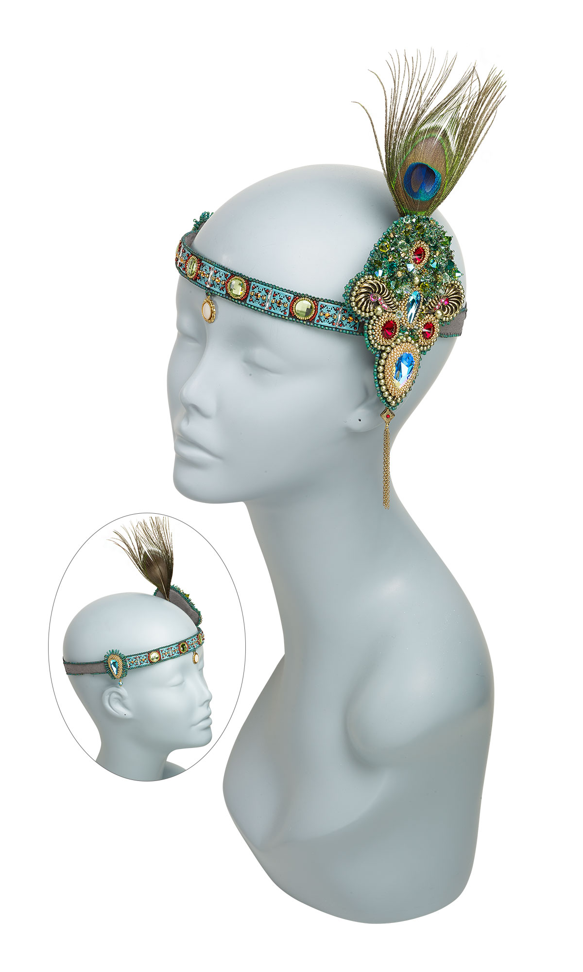 Jewelry Design - Headdress with Swarovski® Crystals, Seed Beads and ...