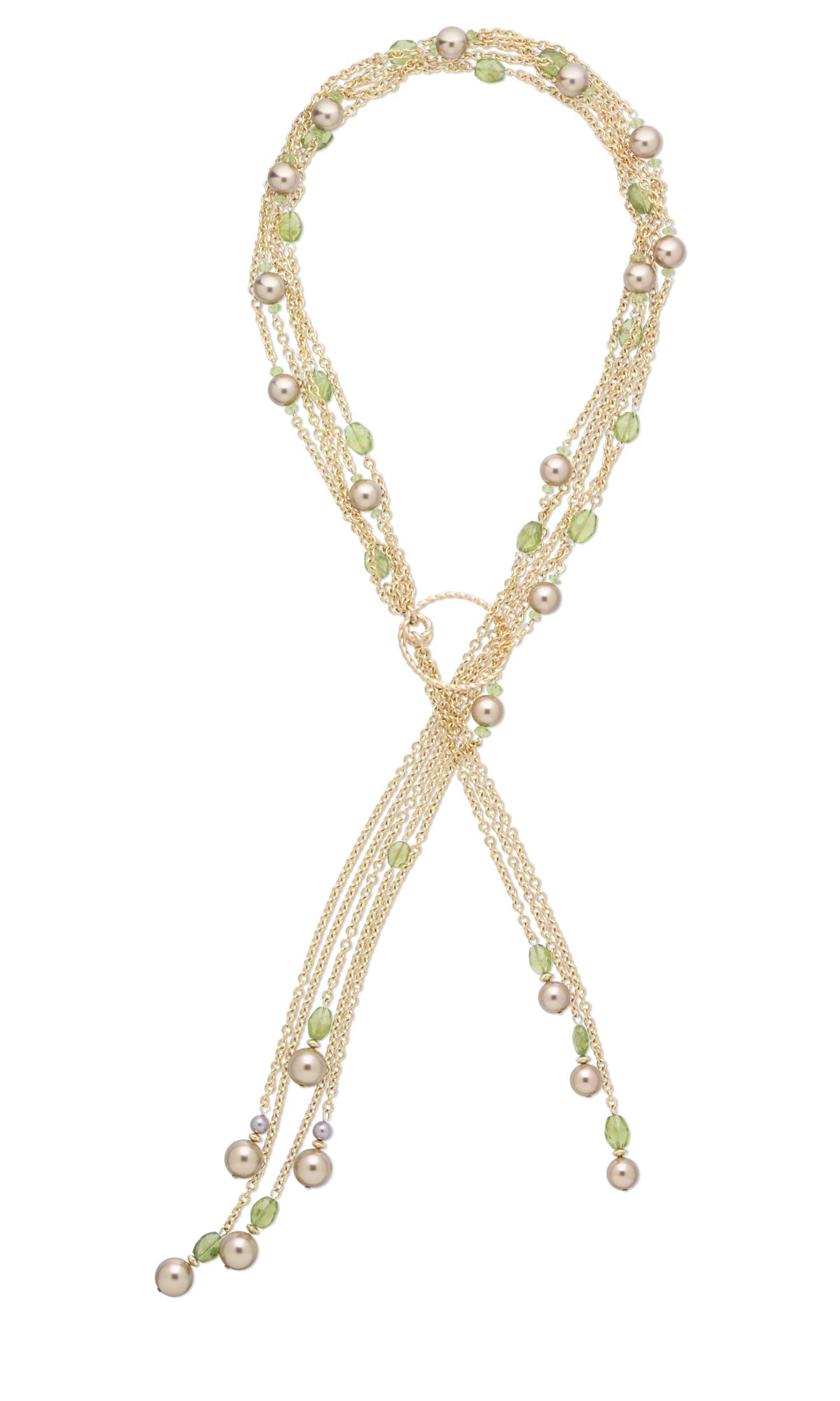 Jewelry Design Multi Strand Lariat Style Necklace With
