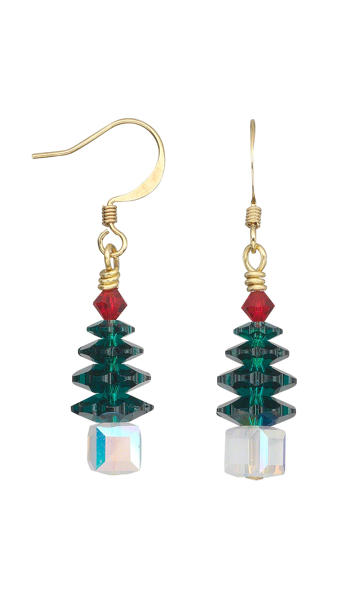 crystal earrings color branellibeads tree cte multi christmas products