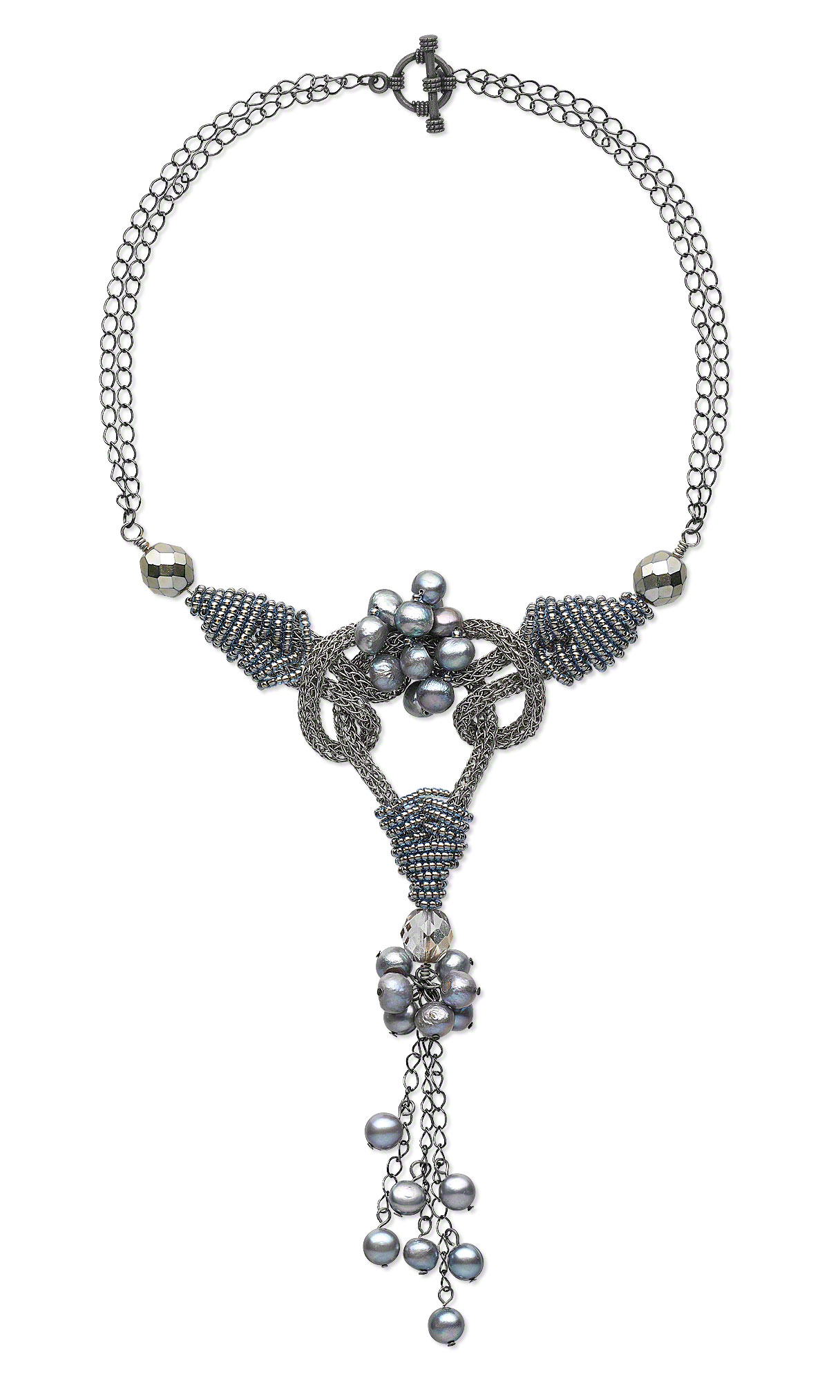Jewelry Design - Double-Strand Necklace with Viking Knit Wire, Seed ...