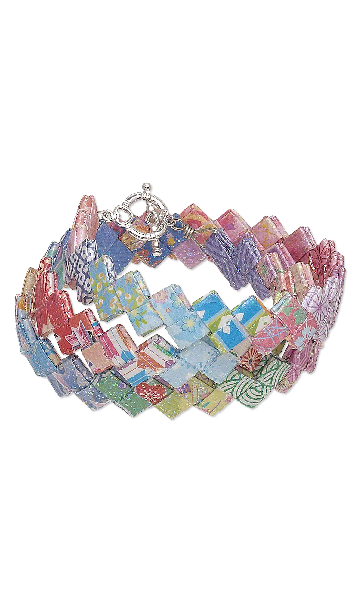 jewelry design bracelet with origami paper and mod podge