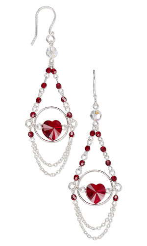 Jewelry Design Earrings With Swarovski Crystal Beads And