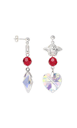Jewelry Design Earrings With Swarovski Crystals And