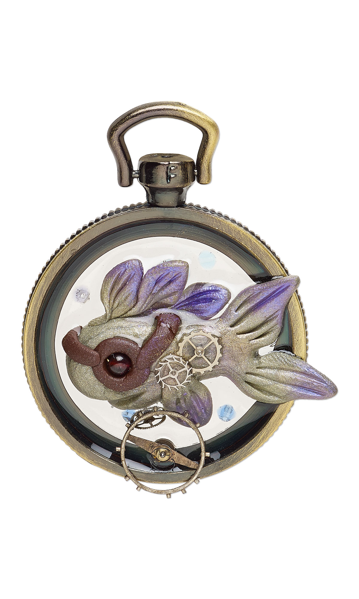 Jewelry Design Pendant With Watch Components Premo Sculpey