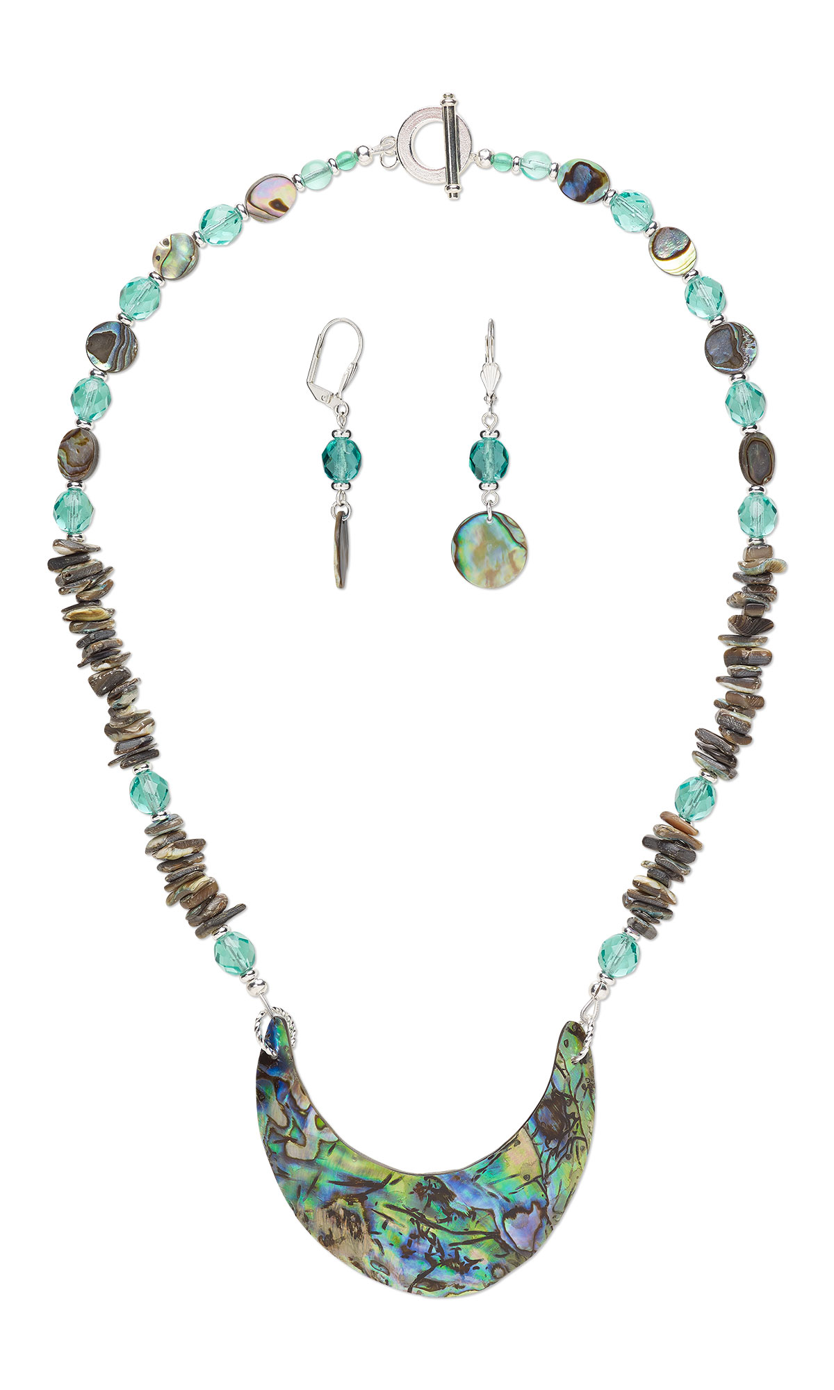 il paua blue pendant fullxfull shell necklace set and jewelry listing silver sterling earring
