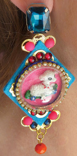 Earring On Model to Illustrate Size