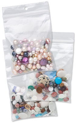 Tite-Lip Bags Filled With Bead Mixes