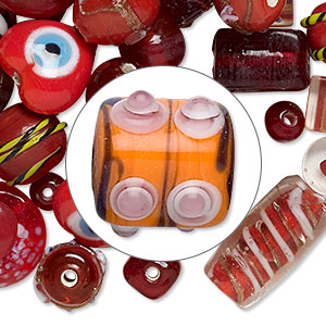 Lampworked glass beads