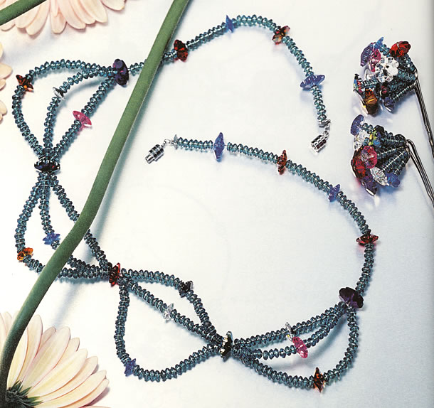 Flower Neclace and Hair Accessories - Fire Mountain Gems and Beads