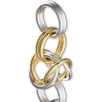 A20Q step7 Queens Chain Maille Link
