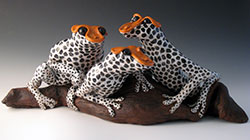 Ceramic Frogs by Alexis Moyer