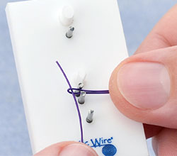 Insert a Wire through Fold in Bent Wire