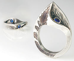 Metal Leaf Ring