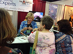 Patti Bullard at the Fire Mountain Gems and Beads Booth