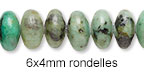 6x4mm Rondelle Beads