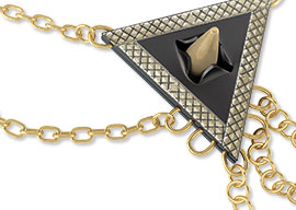 Connect Necklace Chain To Triangles