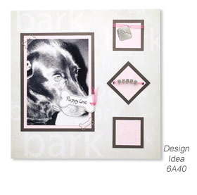 Design Idea 6A40 Scrapbook Page