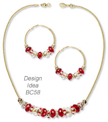 Design Idea BC58 Necklace and Earrings