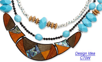 Design Idea C70W Necklace and Earrings