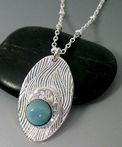 Precious Metal Clay Necklace with Pendant