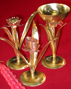 Bronze and Copper Havhalah Set