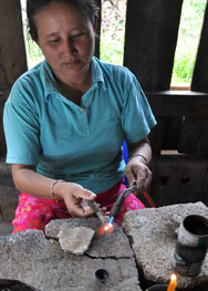 Hill Tribes Workers in Thailand Make Beads And Components for Fire Mountain.