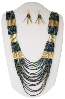 Necklace and Earrings - Product H20-1835JD