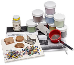 Vitrearc and Thompson Opaque Enameling Starter Set