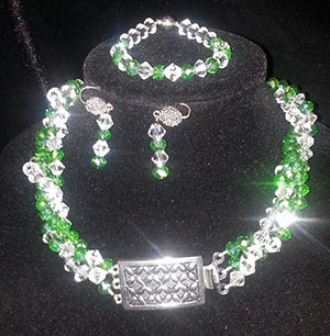 Back View of Donated Necklace, Bracelet and Earring Set