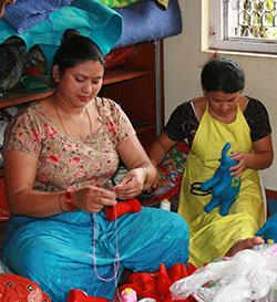 Women Making Felt Animals