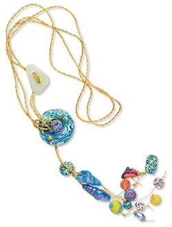 Sea Life-Themed Polymer Clay Necklace