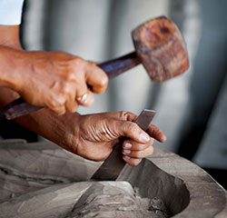 Using a Mallet and Chisel to Carve Wood