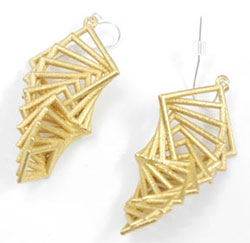 3D Printed Earrings by Jordan Graves of Repeat Offfender
