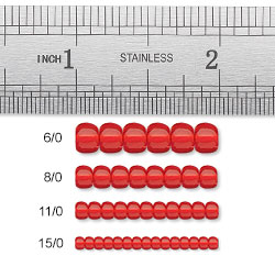 Seed Bead Sizes and Hole Sizes Chart