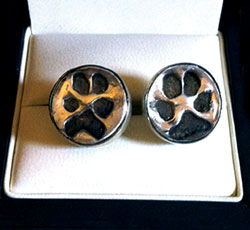 Dog Print Cuff Links