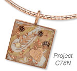 Single-Strand Necklace with ICE Resin® and Copper Leaf Sheets and Copper Embellishment